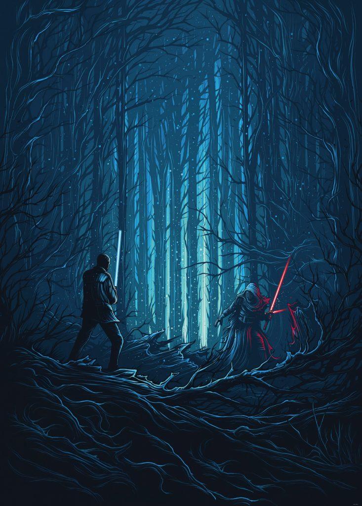 Star Wars Wood Fight